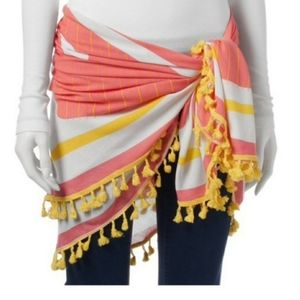 Round festival sarong/wrap/ scarf/ with pouch. NWT